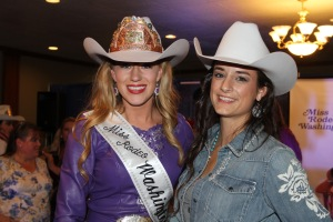 The newly crowned 2016 Miss Rodeo Washington Macy LaValley and myself after the announcement!