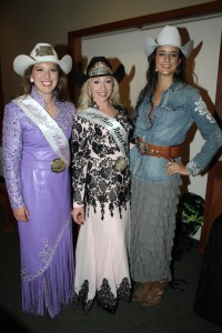 This is myself with the 2015 Teen Miss Rodeo Washington Mikayla Smith and the newly crowned 2016 Miss Rodeo Bailey Nachtigal!