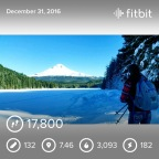 Snowshoeing Trillium Lake
